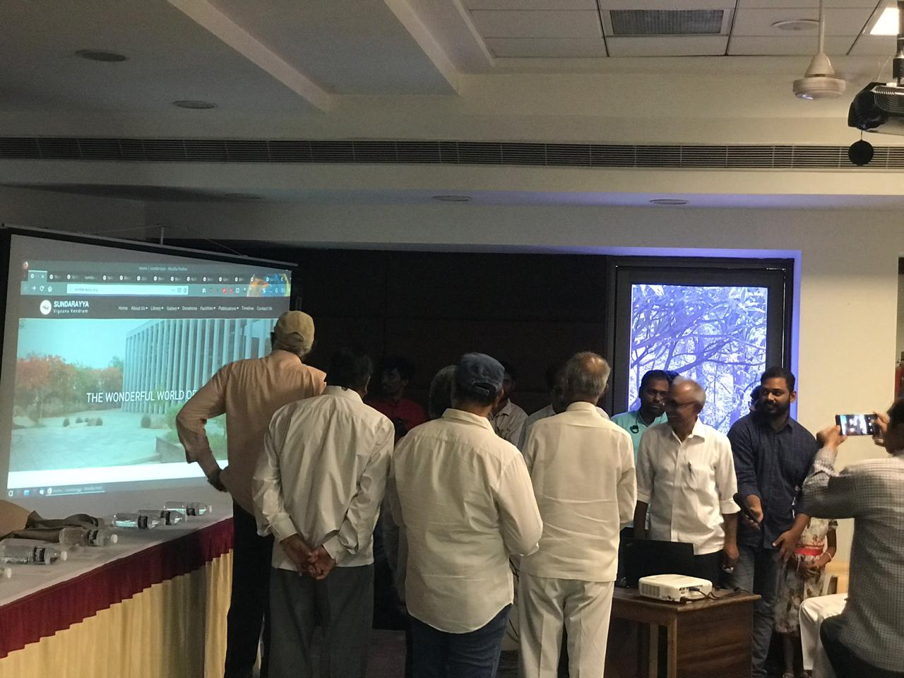 Launch of Sundarayya Vignana Kendram Website