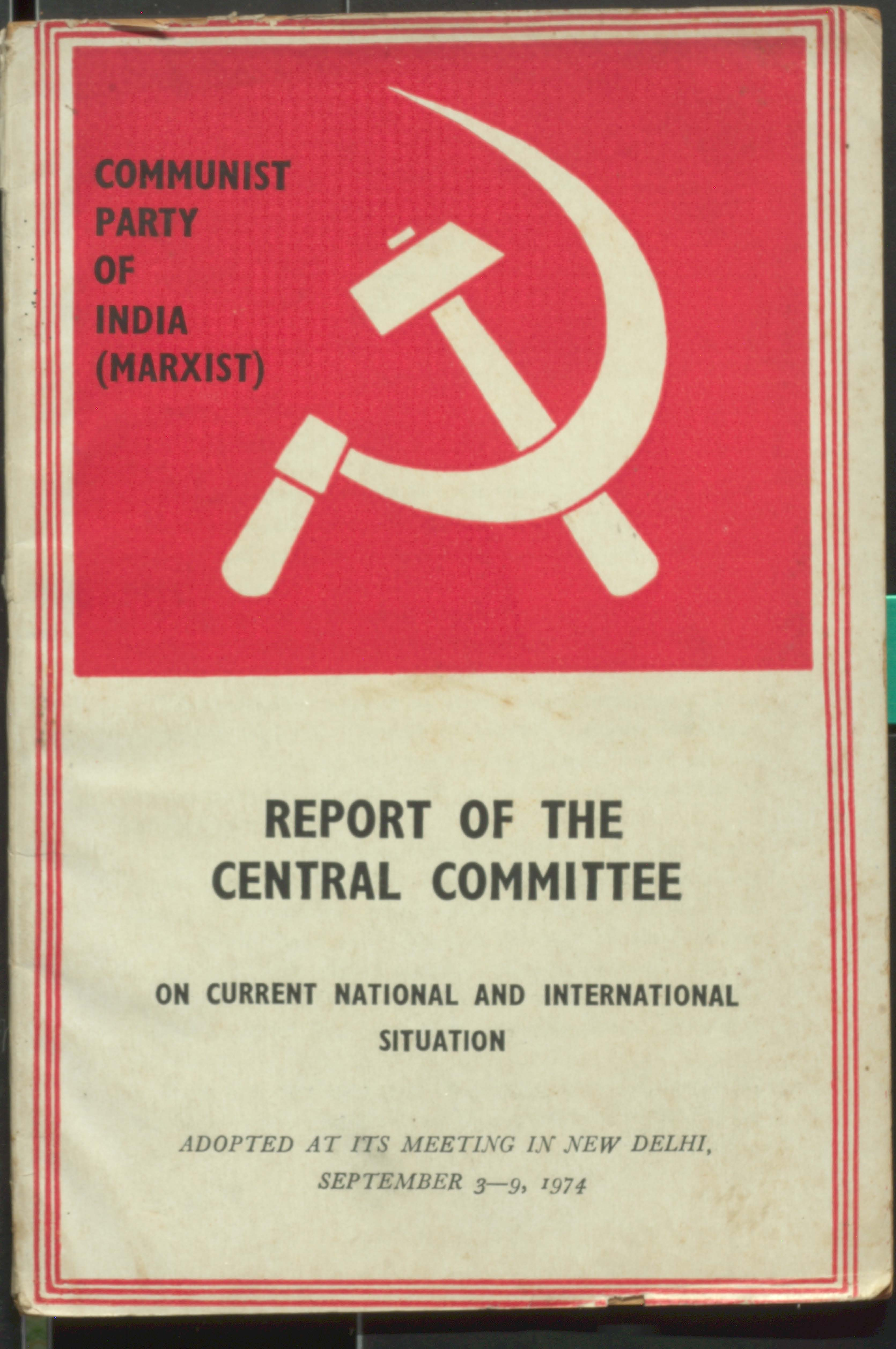 Report of the  Central Committee