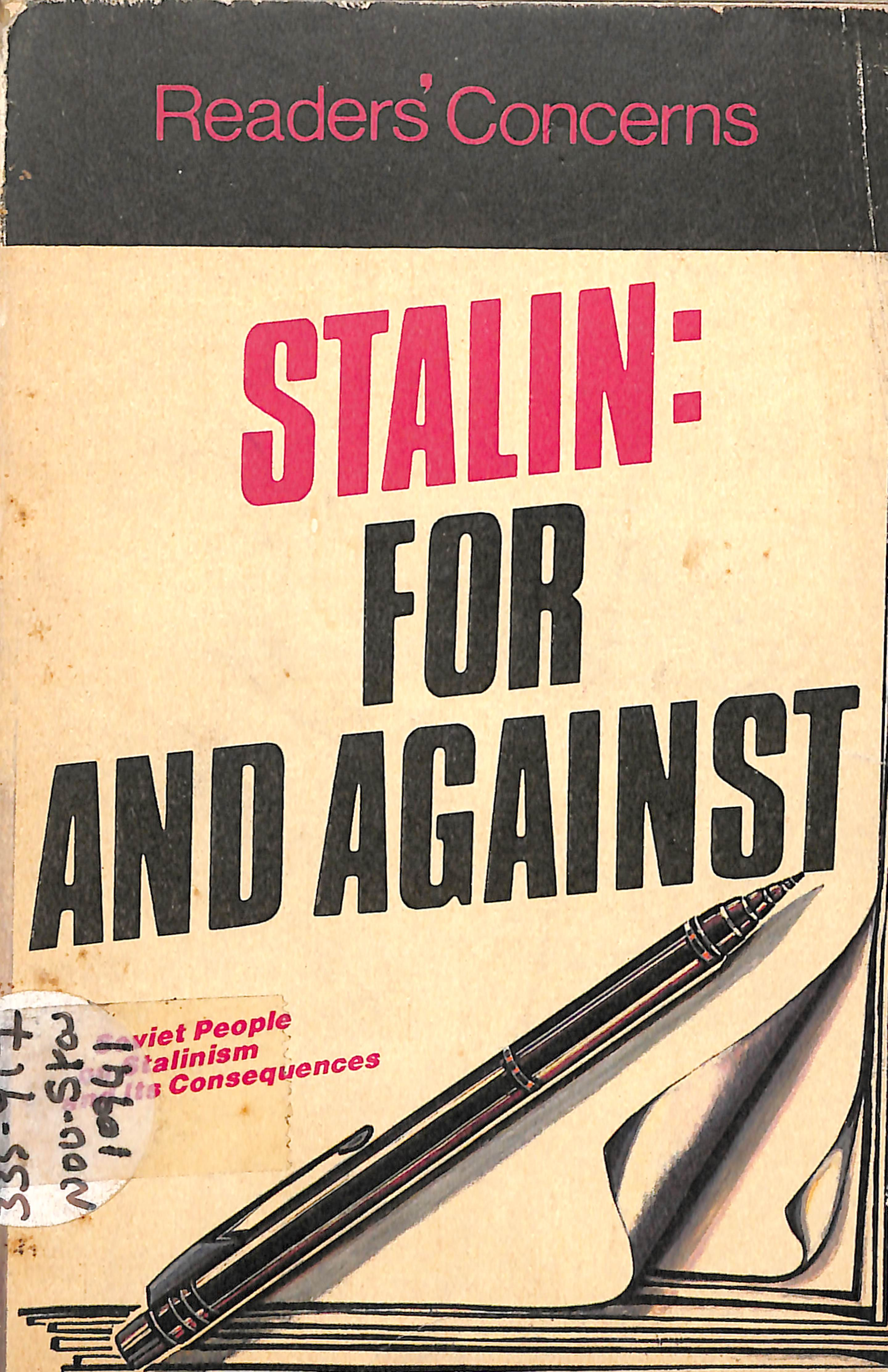 STALIN FOR AND AGAINST