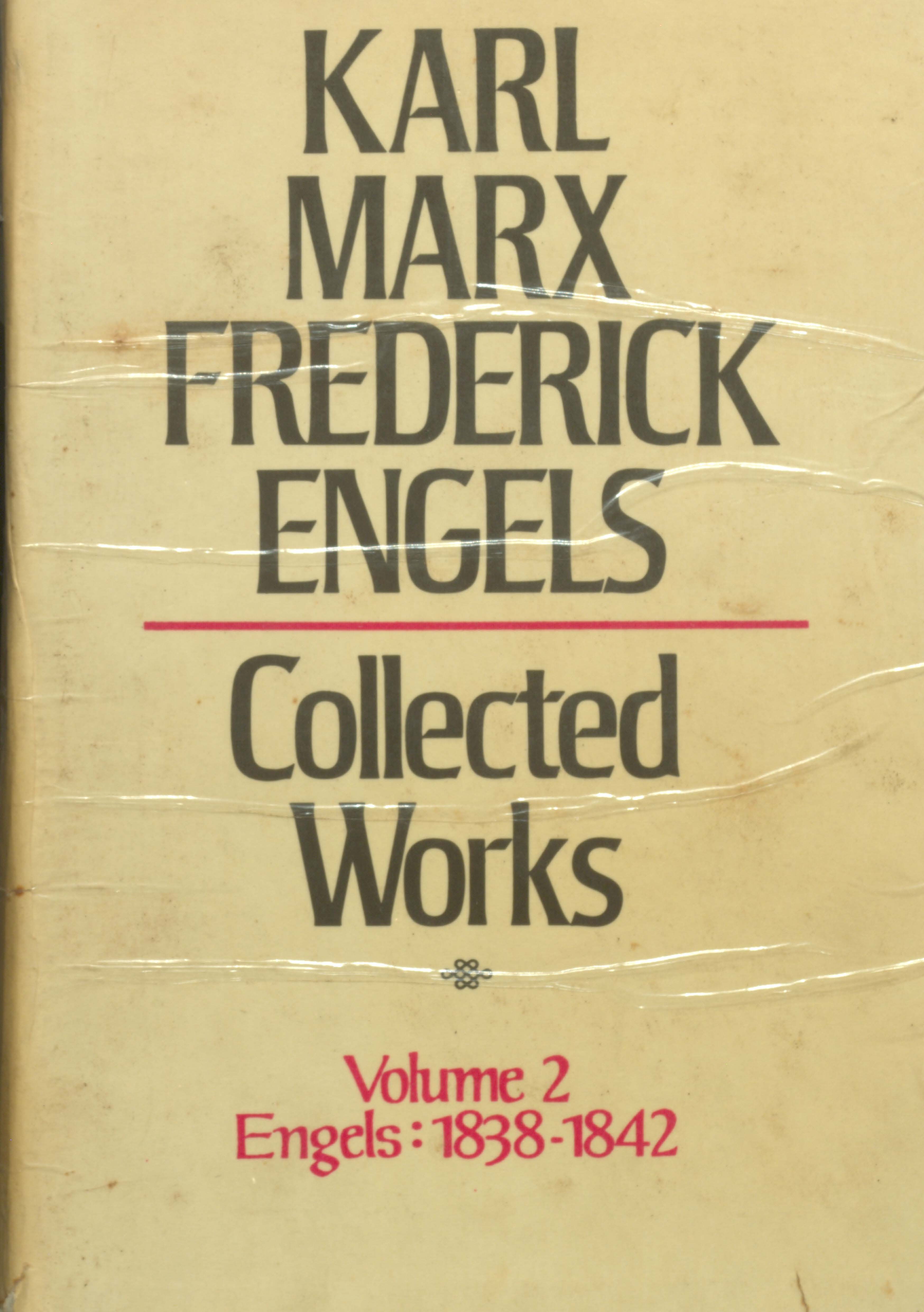 Karl marx frederick engels collected works volume 2 Engels(1838-1842)