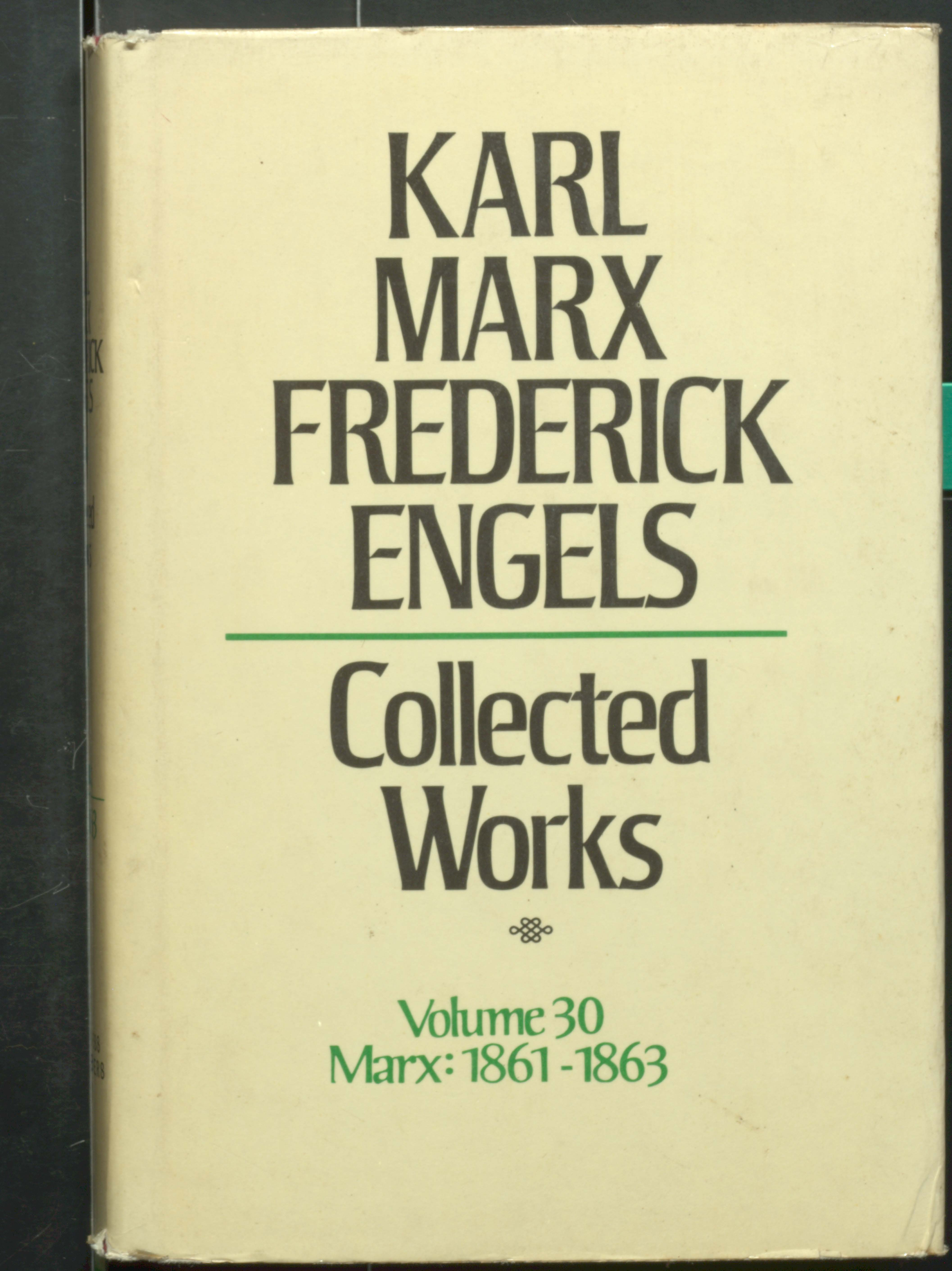Karl marx frederick engels collected works volume 30 Marx(1861-1863)
