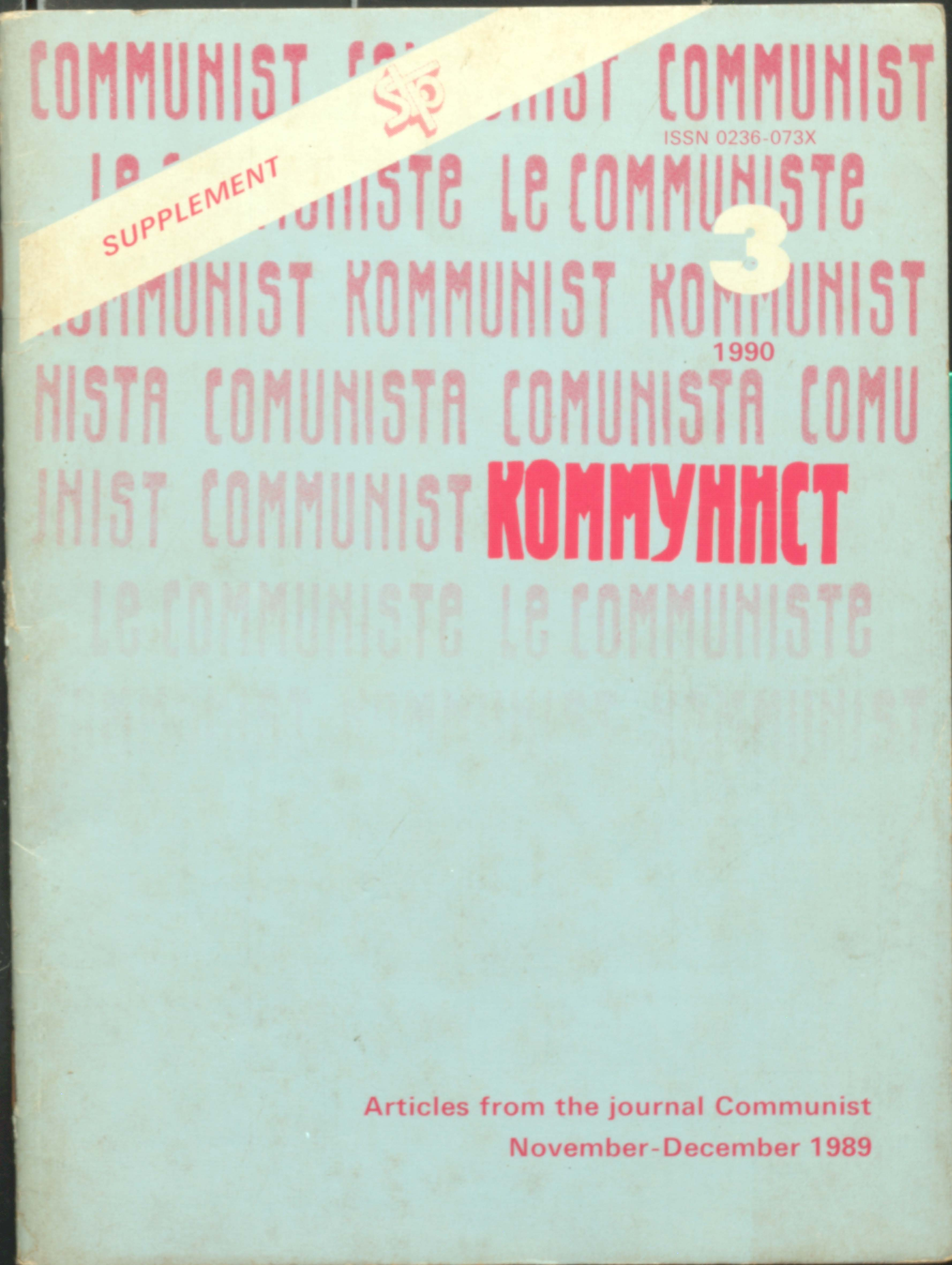 Artical from the Journal communist Nov-dec 1989