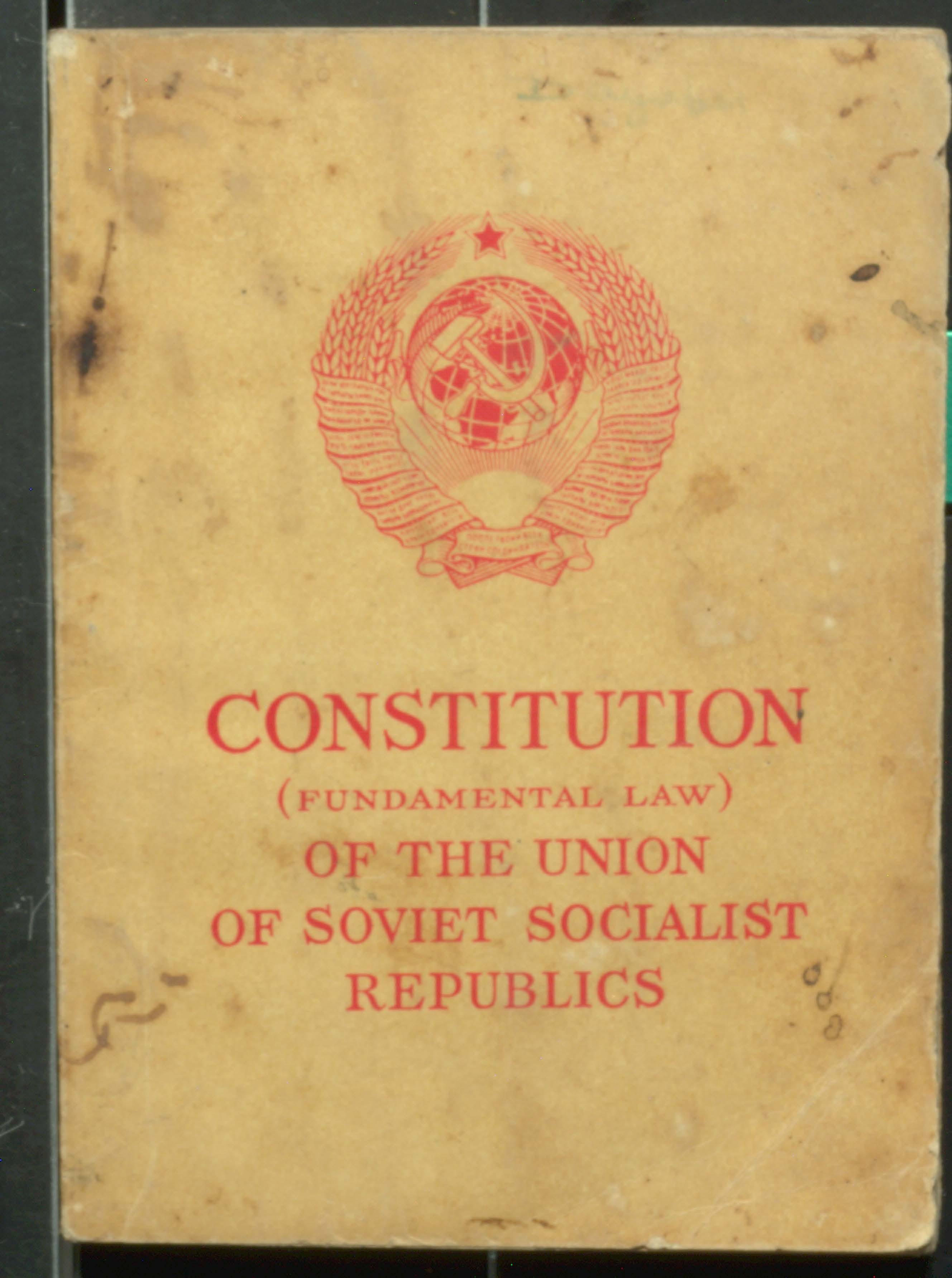 Constitution Of The Union Of Soviet Socialist Republics